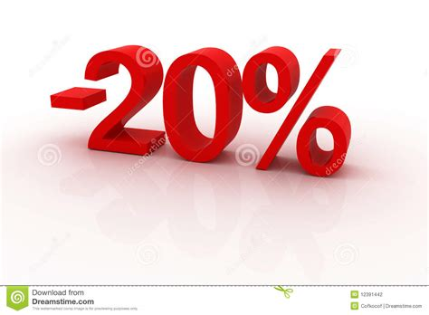 20 Percent Discount Stock Illustration. Illustration Of