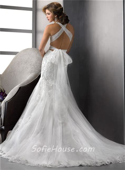 backless wedding dress lace fashion mermaid v neck tulle lace wedding dress with