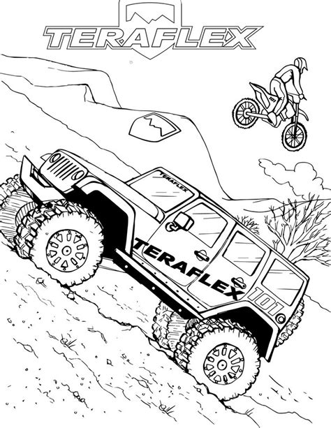 jeep  road bumpers coloring page