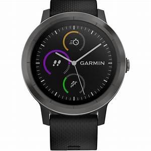Garmin Vivoactive 3  Black With Slate Hardware  Base