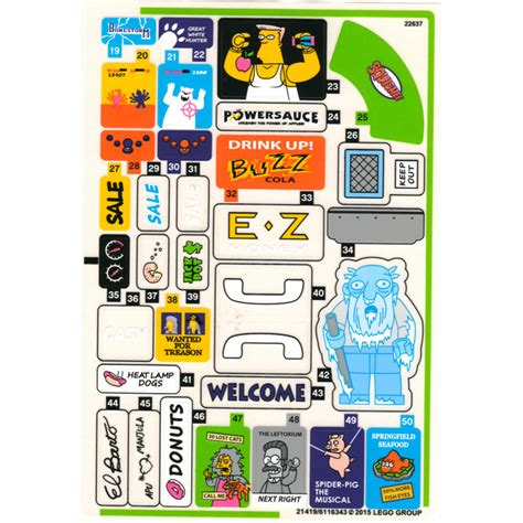 Lego Sticker For Set 71016  Sheet 2 (21419)  Brick Owl