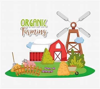 Agricultura Farming Organic Cartoons Karikaturen Biologischen Landwirtschaft