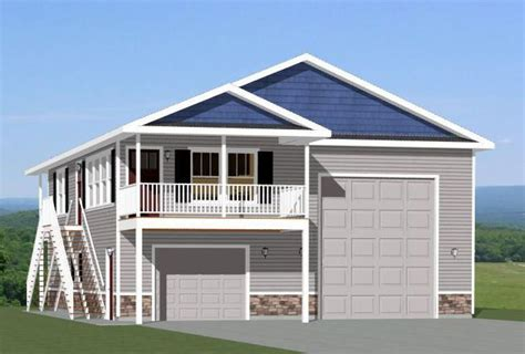 garage plans with living space on floor 36x40 apartment with 1 car 1 rv garage pdf floor plan