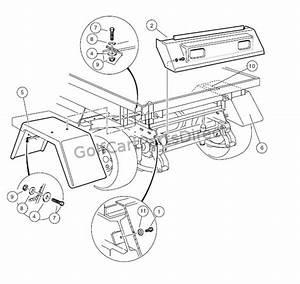 Rear Body Trim  U2013 Turf  Carryall 252 And 2 Xrt
