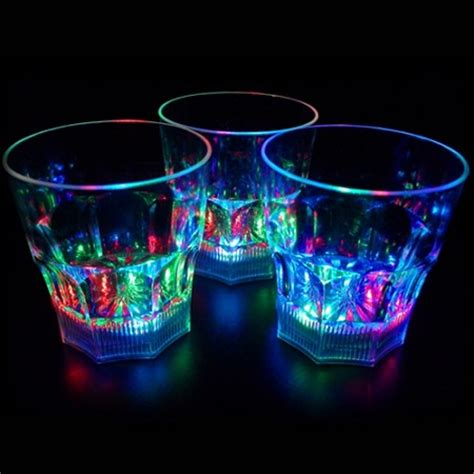 light up rocks liquid activated light up 10 oz whiskey rocks glass