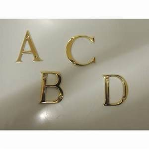 50mm polished brass door letters With brass letters for doors