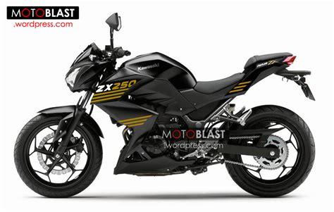 Modification Kawasaki Z250 by Modif New Striping Z250 Black Motoblast