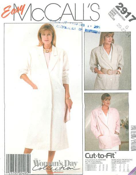 Unlined Coat Jacket Pattern Easy Vintage Boxy Loose Fit