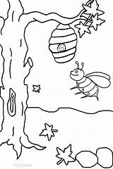 Bee Coloring Bumble Pages Printable Honey Busy Drawing Outline Clipart Bees Cool2bkids Colouring Sheets Hive Easy Activities Insect Bumblebee Flower sketch template