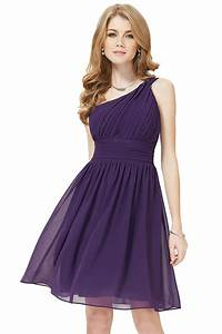 petite robe classe asymetrique violettte pour cocktail With robe classe mariage