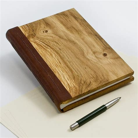 wooden notebook  size book binding wood book