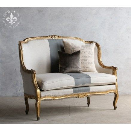 Shabby Chic Settee Furniture by Charming High Back Vintage Settee In Gold 2 965 00