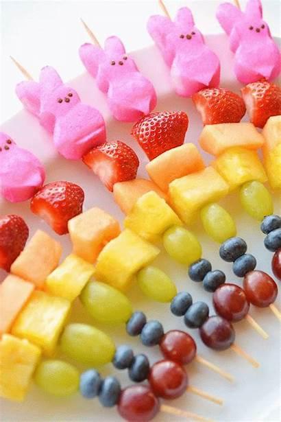 Easter Fruit Peeps Kabobs Snacks Skewers Rainbow