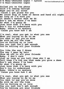Jennifer lopez lyrics love song lyrics for i m real for Lyrics of on the floor of jennifer lopez