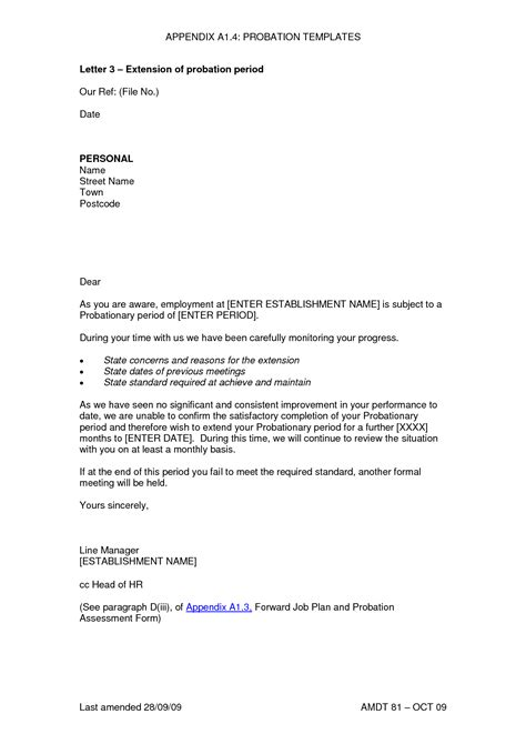 Employment Probation Letter Template by Best Photos Of Employee Probation Letter Sle Employee
