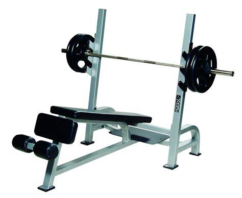 olympic bench press olympic decline bench press w gun racks benches york