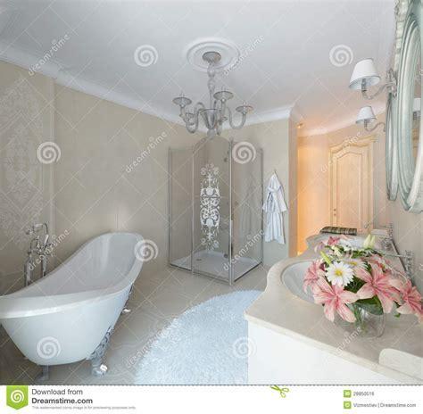 Luxury Bathroom. Classic Style Stock Illustration