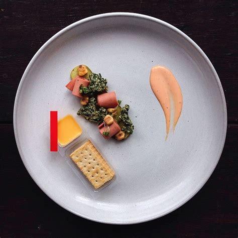 fancy junk food prepared  chef jacques la merde