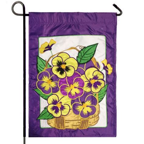 pansies garden flag flags on sale clearance