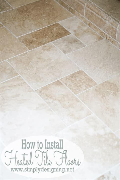 master bathroom remodel part 7 how to install radiant