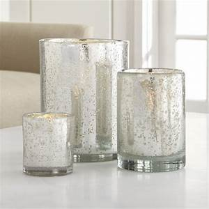 silver hurricane candle holders crate and barrel With kitchen cabinets lowes with votive candle holders mercury glass