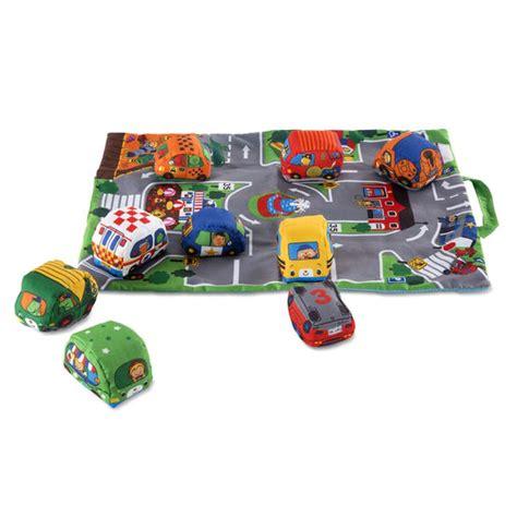 tapis de jeu portatif  petites voitures en tissu sac