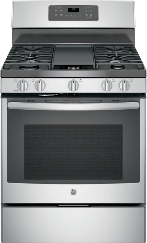 jgbsejss ge   standing gas convection range stainless steel