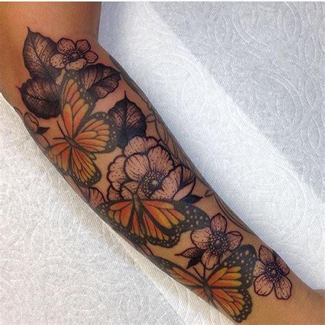 monarch butterflies sleeve tattoo venice tattoo art designs