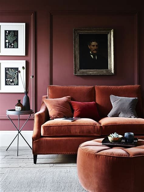Burgundy Painted Walls Ideas Living Room On Burgundy And