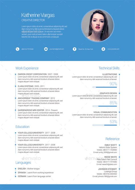 material design resume by firudra graphicriver