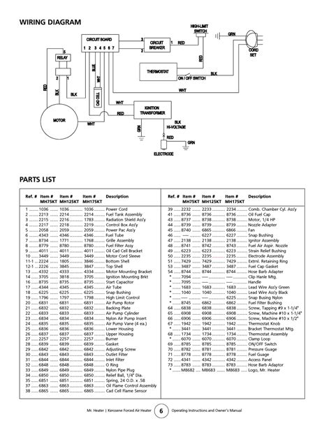 wiring diagram parts list enerco mh175kt user manual page 6 8