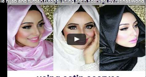 comment mettre le foulard islamique moderne vid 233 o tutoriel comment mettre le avec un foulard en satin astuces
