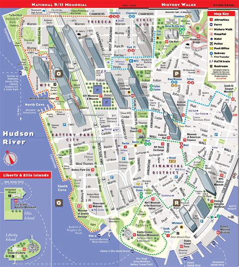 map  manhattan  york city  travel information
