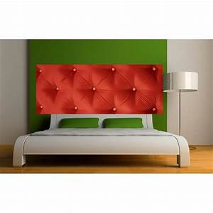 Tete De Lit Rouge : stickers t te de lit capitonn e rouge art d co stickers ~ Teatrodelosmanantiales.com Idées de Décoration