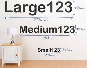 personalised letter and number wall stickers With number letter stickers