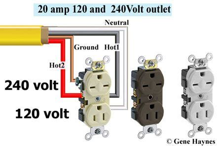Volt Receptacle Electrical Wiring Home