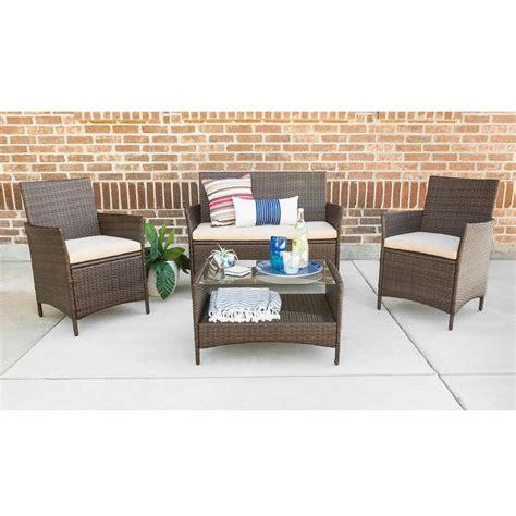 kontiki patio furniture manufacturer rattan conversation set decorative glass tile inserts