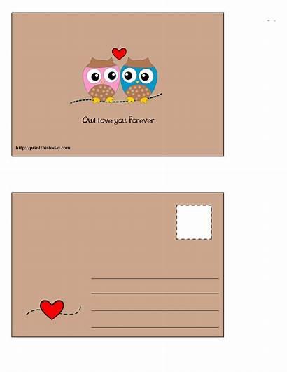 Postcard Postcards Owl Forever Printable Birds Printthistoday