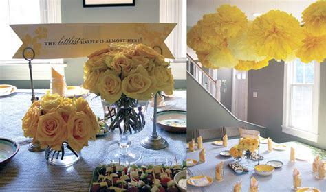 gray and yellow baby shower by chelle paperie the sweetest occasion