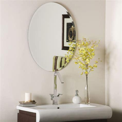 Modern Oval Bathroom Mirrors by Oval Frameless Bathroom Mirror Dcg Stores