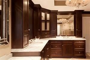 Bathroom, Cabinets, With, Stylish, Elegance, Plain, U0026, Fancy