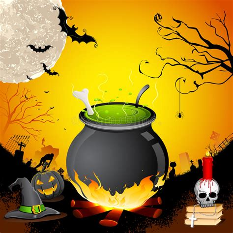halloween cauldron stock photography image