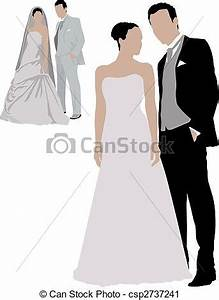 Dessin Couple Mariage Couleur : clip art vecteur de mariage deux couples couleur ~ Melissatoandfro.com Idées de Décoration