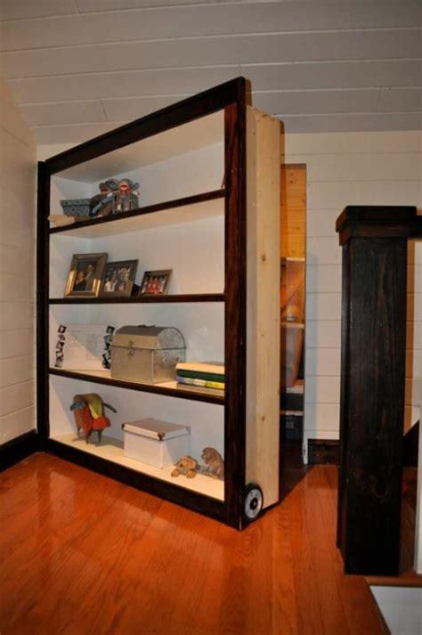 Moving Bookcase Door by Secret Moving Bookshelf Door To Attic Stashvault