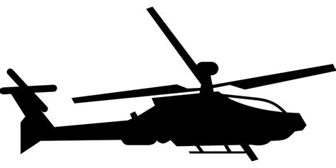 Helicopter, Military, Silhouette