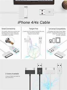 Iphone 4s Cable  Jetech 1 Meter Apple Mfi Certified Usb