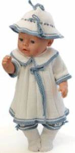 dollknittingpatterns 0150d sophia robe panty chapeau With robe chaussette
