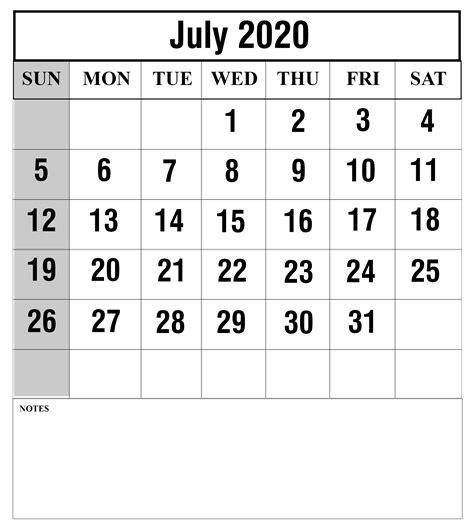 july calendar printable templates excel word