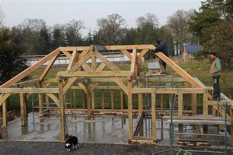 Oak joists timber frame