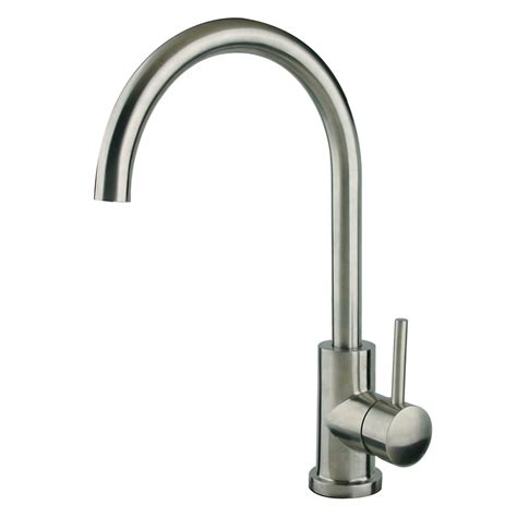 stainless kitchen faucet shop superior sinks stainless steel 1 handle deck mount high arc kitchen faucet at lowes com